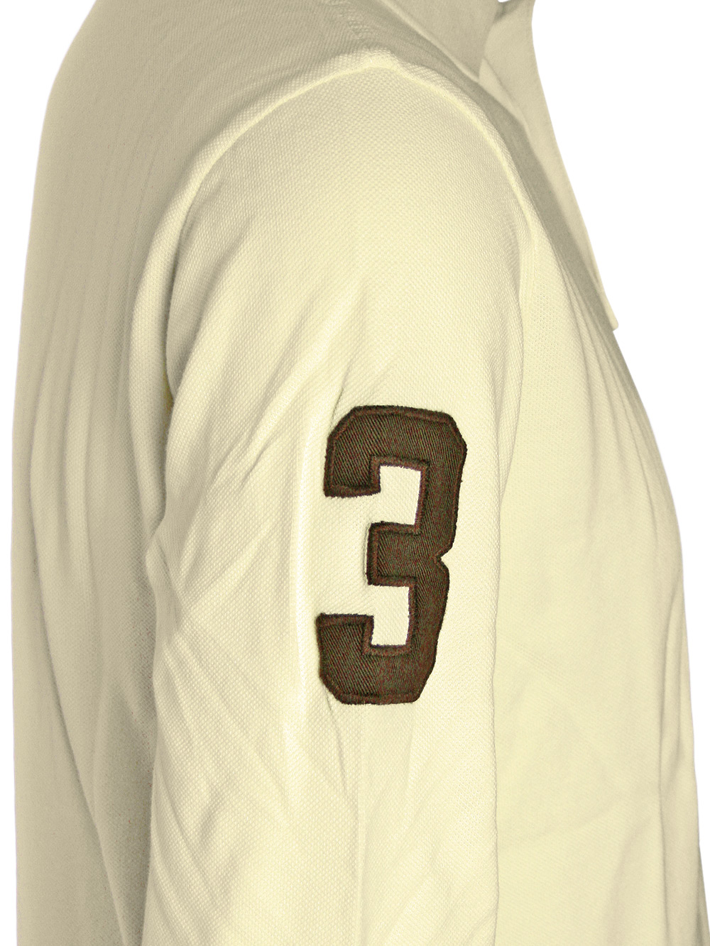 ralph lauren herren langarm polo shirt crest beige neu ebay. Black Bedroom Furniture Sets. Home Design Ideas