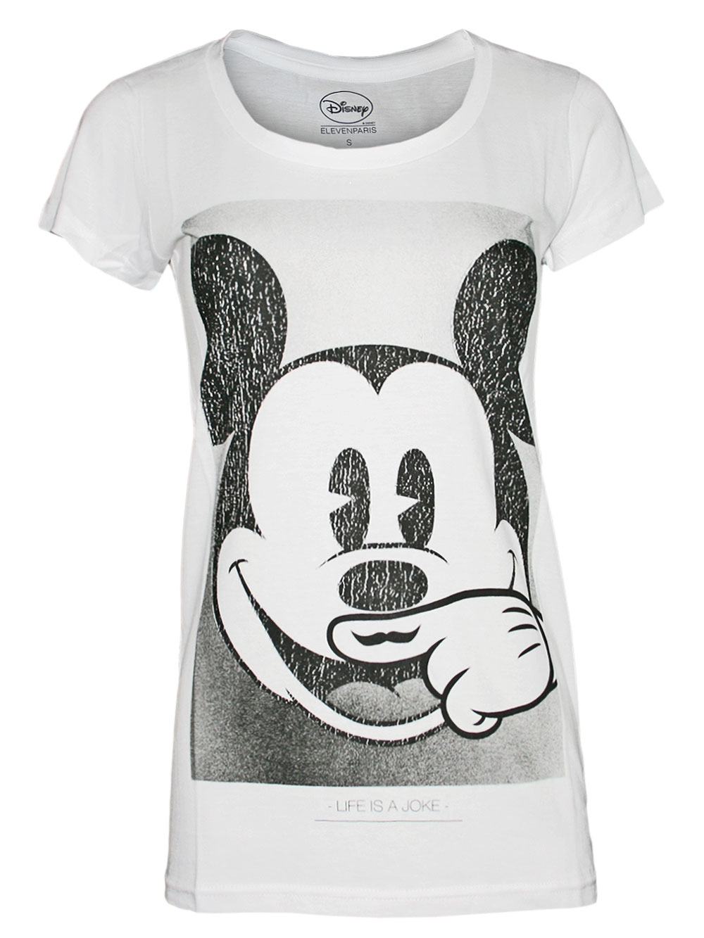 ELEVEN PARIS Damen Top Shirt Boom *Mickey Mouse* Deb* bap NEU in weiss!