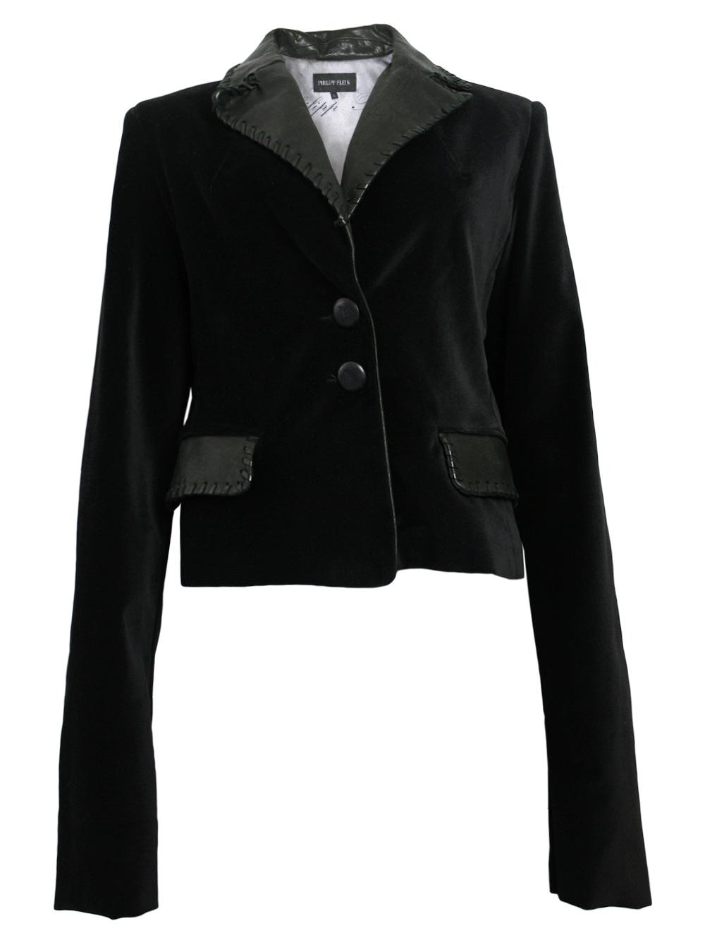 philipp plein damen blazer jacke in schwarz bull neu. Black Bedroom Furniture Sets. Home Design Ideas