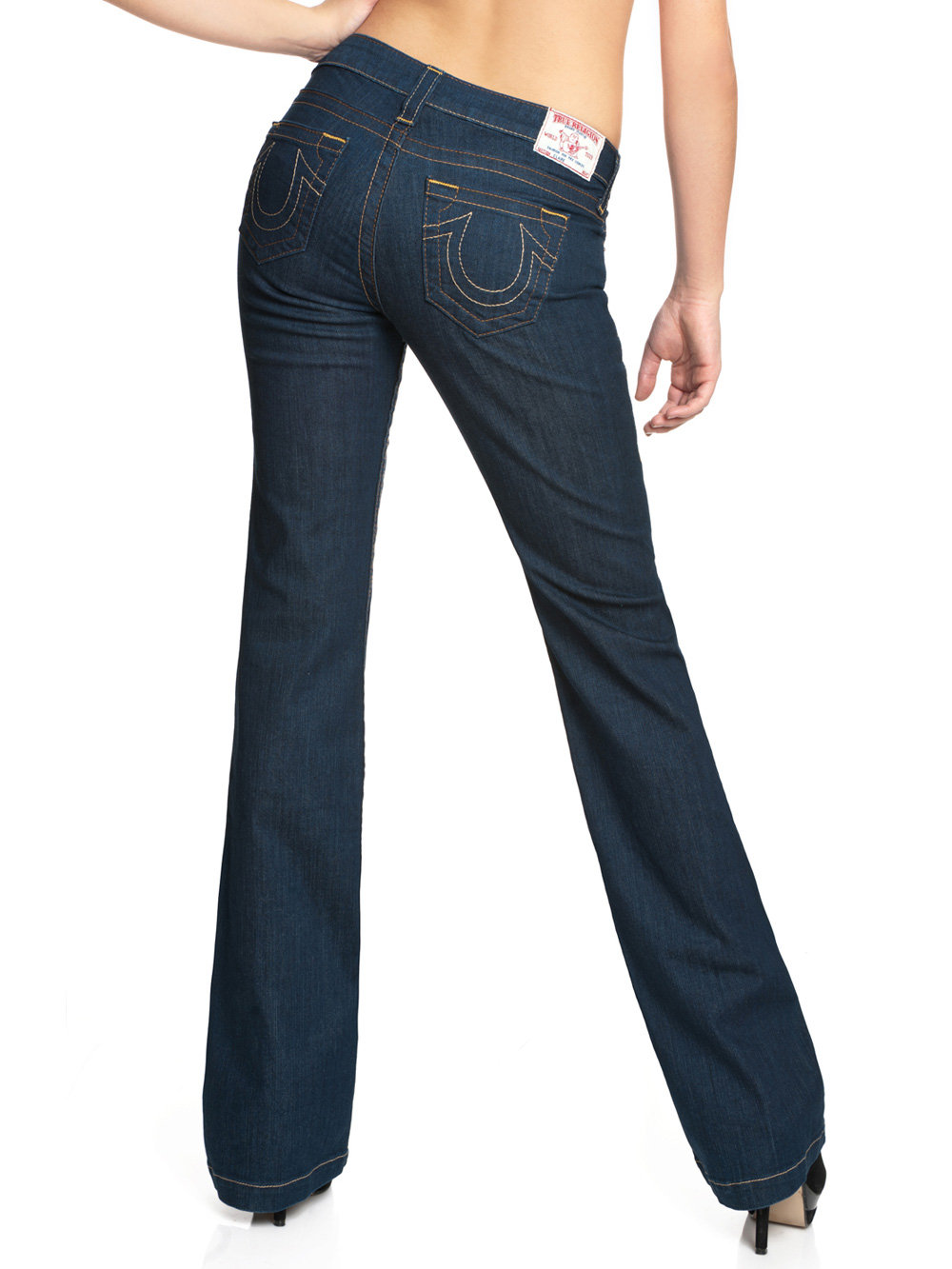 true religion damen jeans claire bootcut blue denim neu ebay. Black Bedroom Furniture Sets. Home Design Ideas