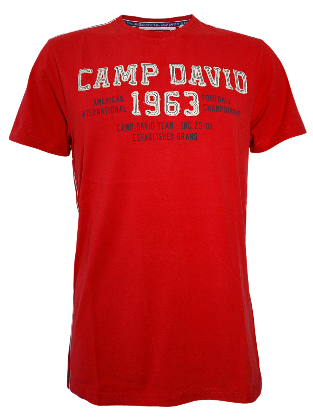 camp david herren t shirt american football in rot neu ebay. Black Bedroom Furniture Sets. Home Design Ideas