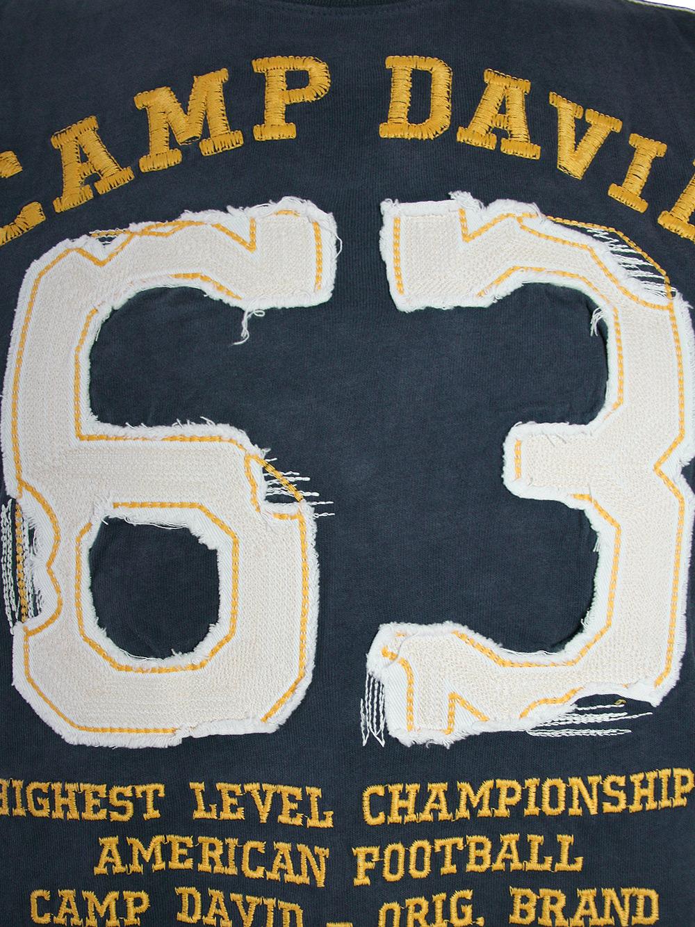 camp david herren t shirt american football in blau neu ebay. Black Bedroom Furniture Sets. Home Design Ideas