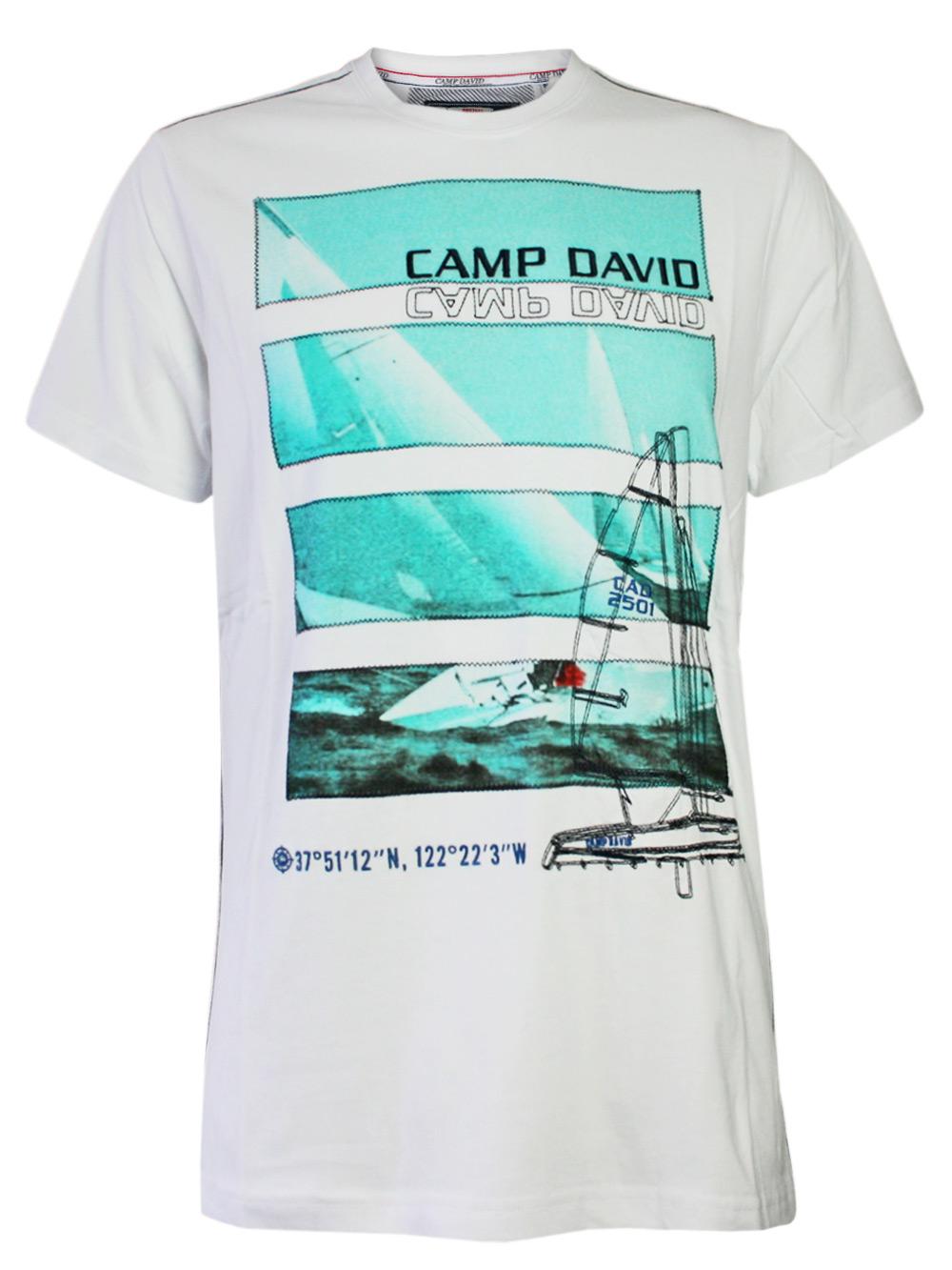 edles camp david herren t shirt sailing cup 3 in wei neu ebay. Black Bedroom Furniture Sets. Home Design Ideas