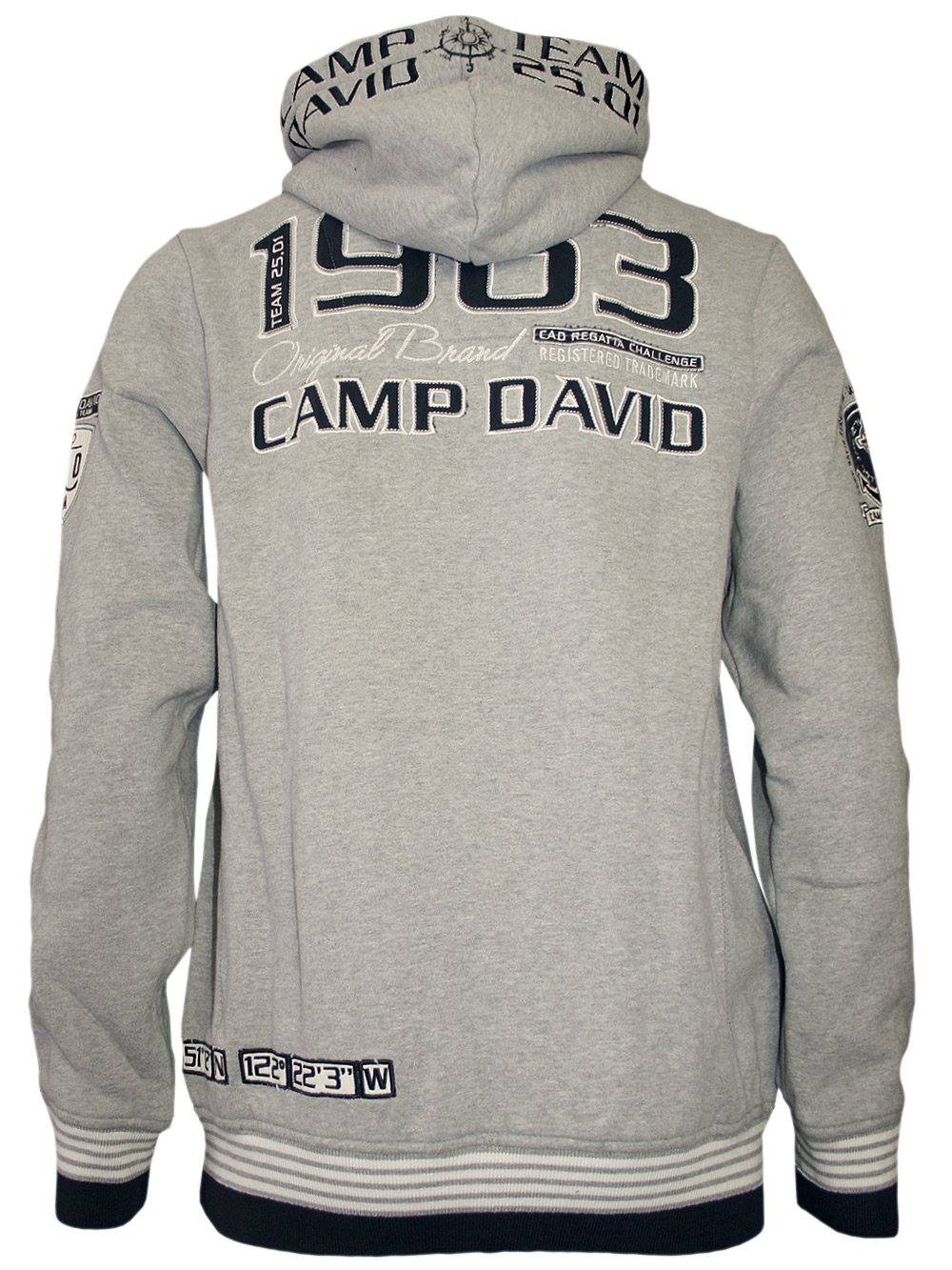 camp david herren pullover sailing cup grau neu ebay. Black Bedroom Furniture Sets. Home Design Ideas