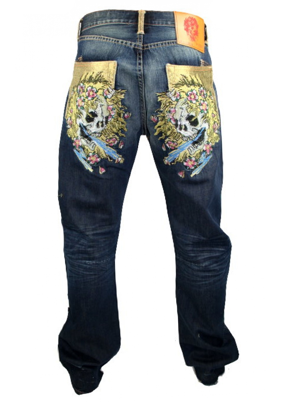 ed hardy herren vintage tattoo strass jeans mcqueen redskull neu ebay. Black Bedroom Furniture Sets. Home Design Ideas