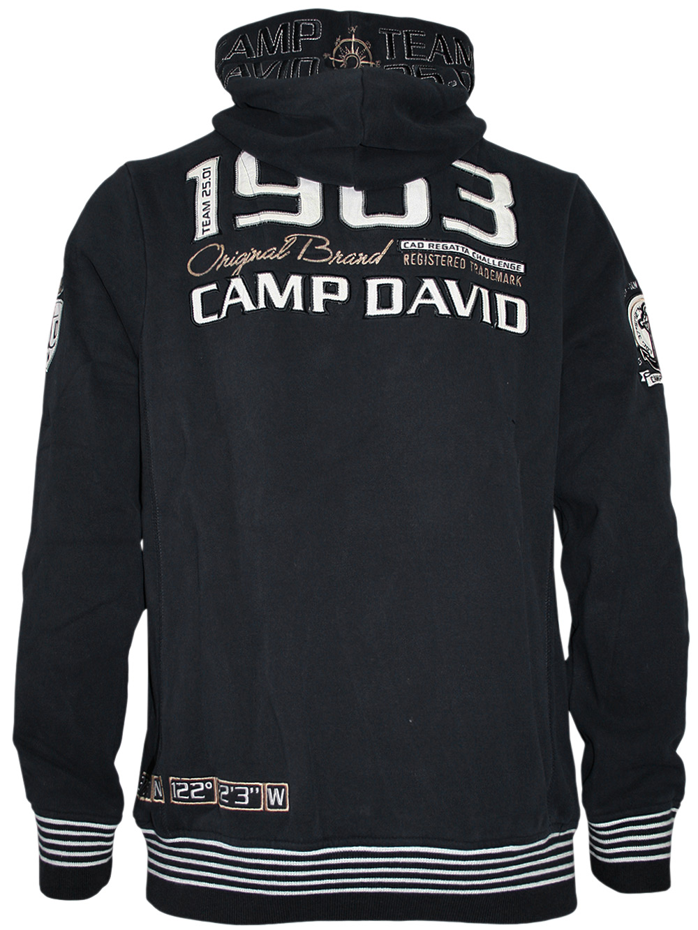 camp david herren pullover sailing cup dunkelblau neu ebay. Black Bedroom Furniture Sets. Home Design Ideas
