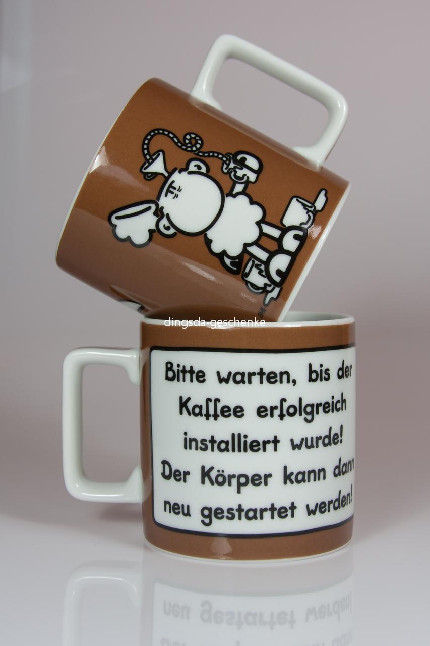 tasse kaffee büropott coole sprüche tee wortheld sheepworld