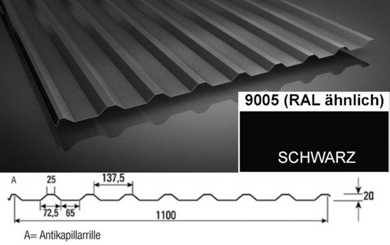 sonderposten trapezblech 35 207 dachblech 0 60 mm. Black Bedroom Furniture Sets. Home Design Ideas
