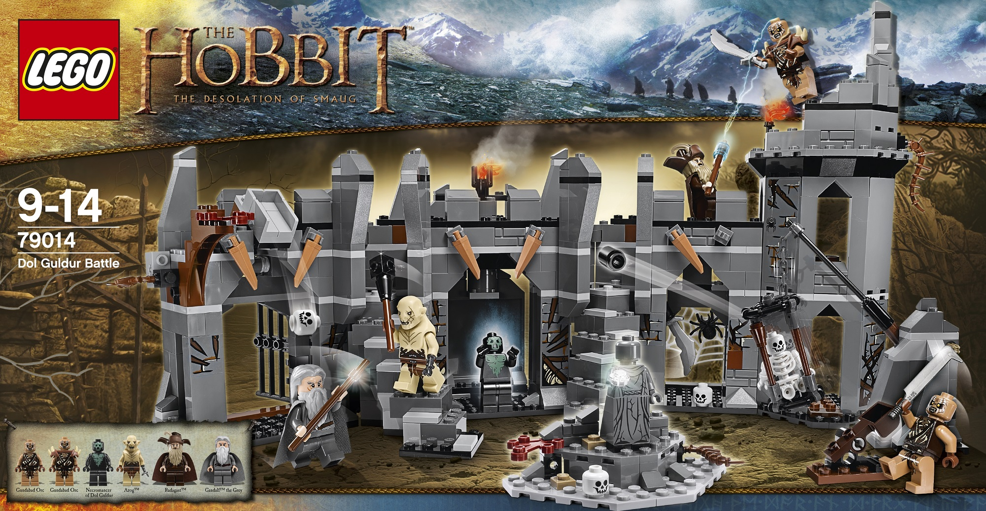 lego der hobbit 79014 schlacht von dol guldur ebay. Black Bedroom Furniture Sets. Home Design Ideas