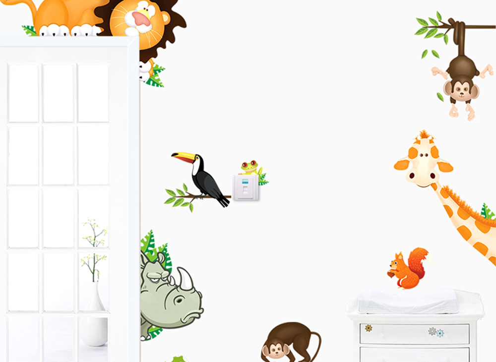 wandtattoo wandsticker wandaufkleber kinder kinderzimmer tiere eule l we baum ebay. Black Bedroom Furniture Sets. Home Design Ideas