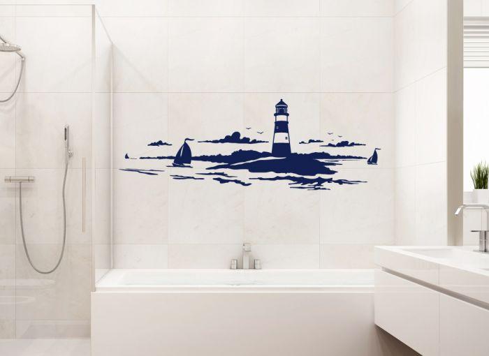 Wandtattoo k stenlandschaft maritime wand deko wandsticker w1165 wandaufkleber ebay - Maritime wandtattoos ...