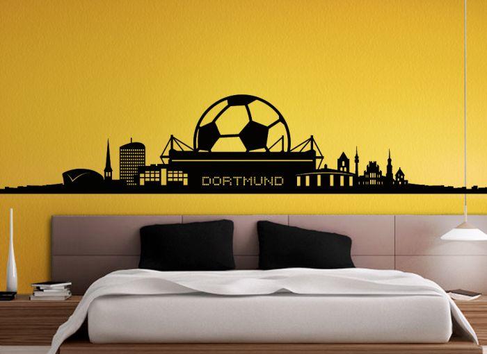 WANDTATTOO Skyline Fußball Dortmund Fanshop 1. Bundesliga