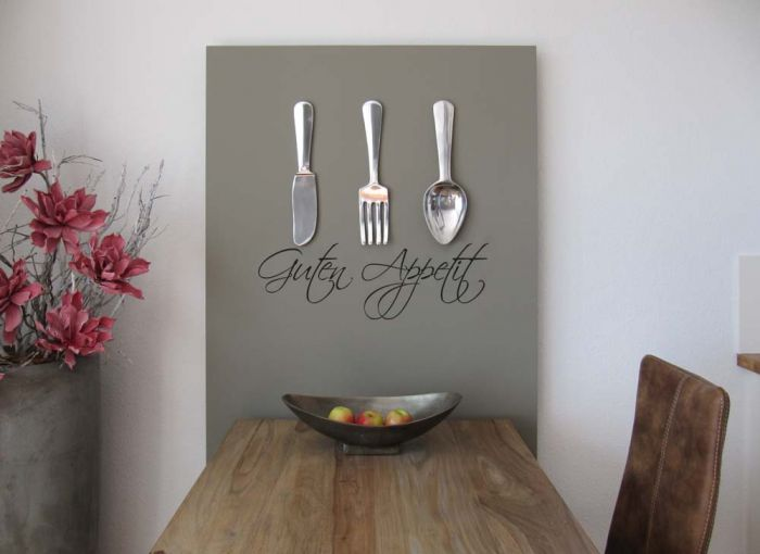 wandtattoo spruch guten appetit w519 k che esssen esszimmer aufkleber sticker ebay. Black Bedroom Furniture Sets. Home Design Ideas