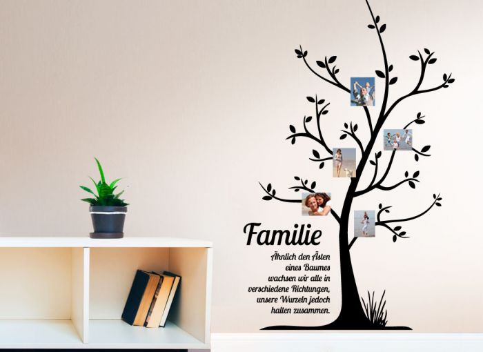 grandora wandtattoo stammbaum familie spruch wohnzimmer flur deko wand w5066 ebay. Black Bedroom Furniture Sets. Home Design Ideas