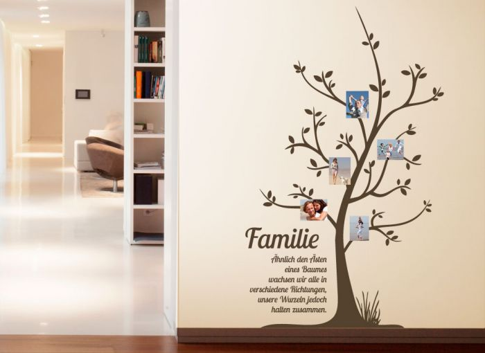 wandtattoo familie stammbaum mit spruch wanddeko zitat. Black Bedroom Furniture Sets. Home Design Ideas