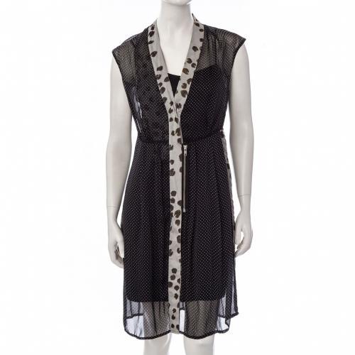SCHUMACHER-Kleid-schwarz-Gr-34-XS-100-Seide