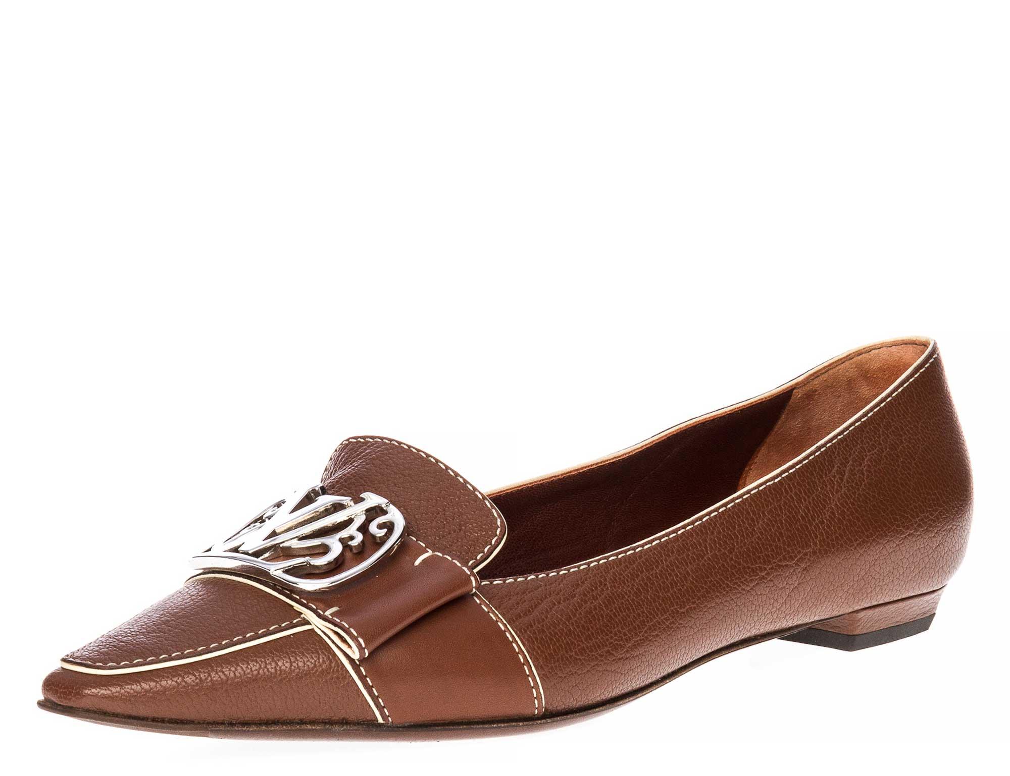 louis vuitton loafers braun gr 36 5 echtleder wie neu ebay. Black Bedroom Furniture Sets. Home Design Ideas