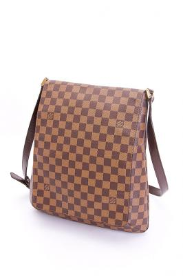 louis vuitton umh ngetasche braun musette in damier canvas ebay. Black Bedroom Furniture Sets. Home Design Ideas