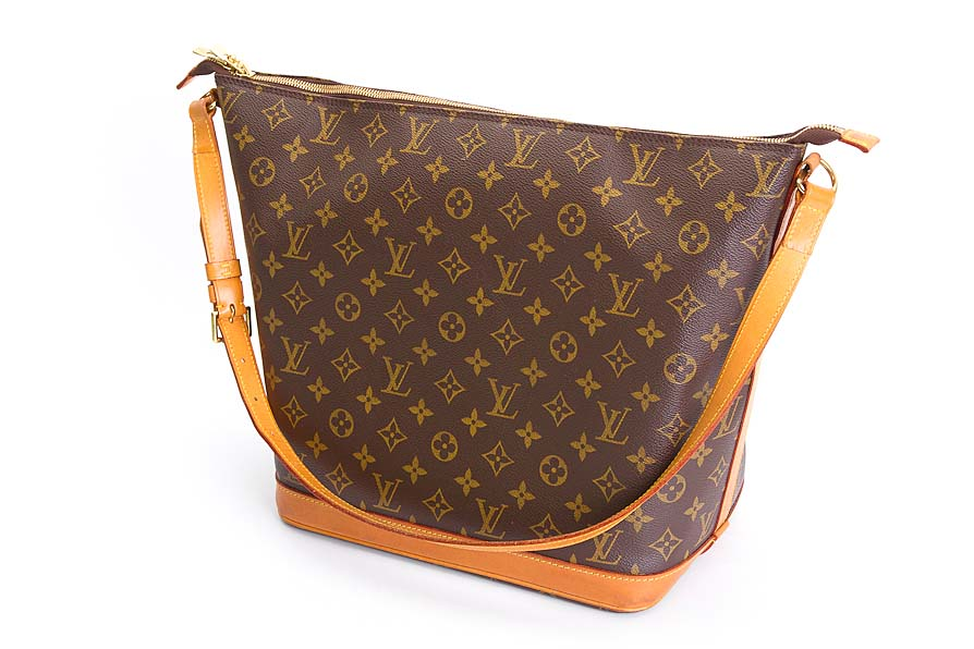 louis vuitton shopper tasche beige braun amfar three monogram canvas wie neu ebay. Black Bedroom Furniture Sets. Home Design Ideas