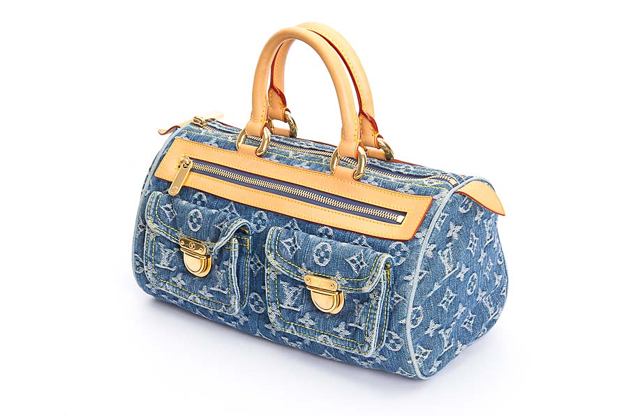 Louis Vuitton Speedy Blau