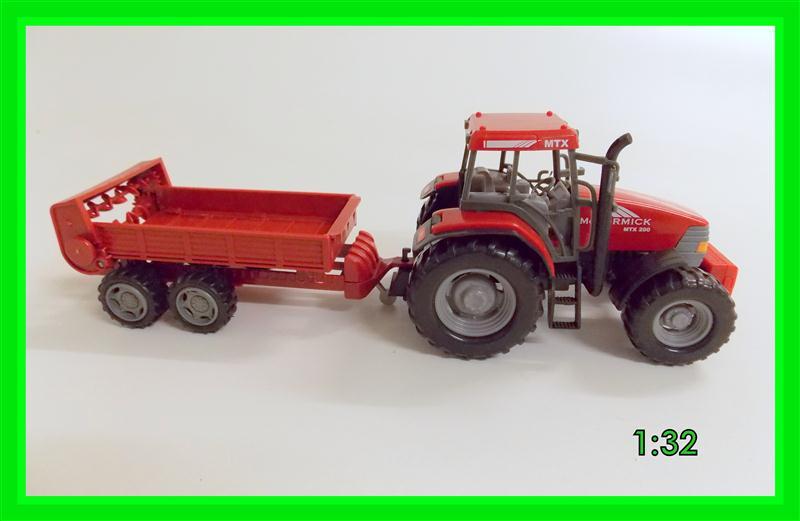 Traktor mit miststreuer rot set spielzeug bauernhof