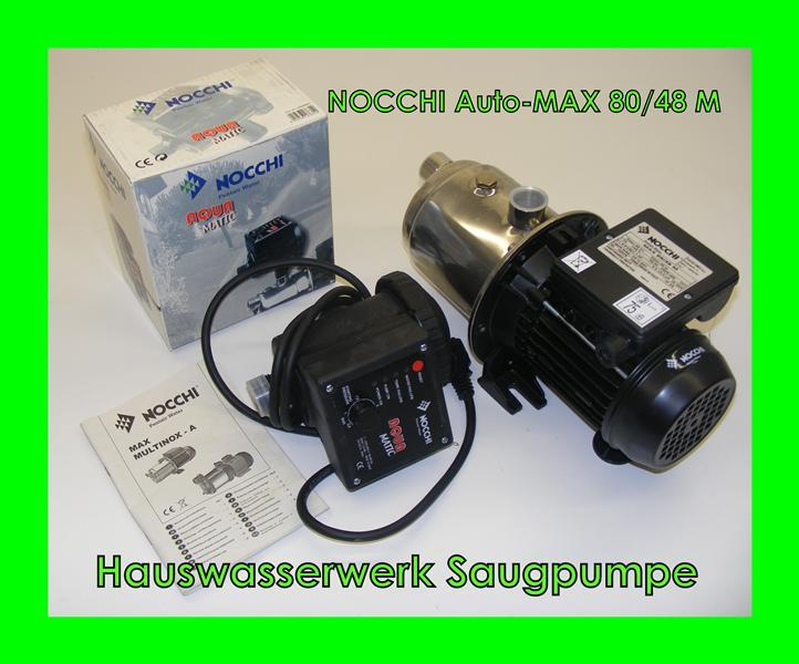 hauswasserwerk pumpe gartenpumpe wasserpumpe nocchi auto max 80 48 m ebay. Black Bedroom Furniture Sets. Home Design Ideas