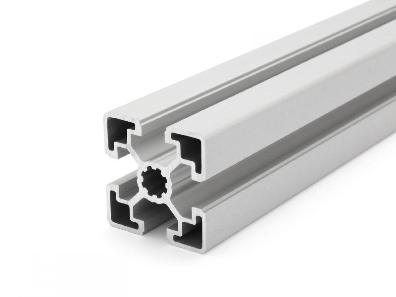 Perfil aluminio 45x45l tipo b ranura 10 corte 1200 - Tipos de perfiles de aluminio ...