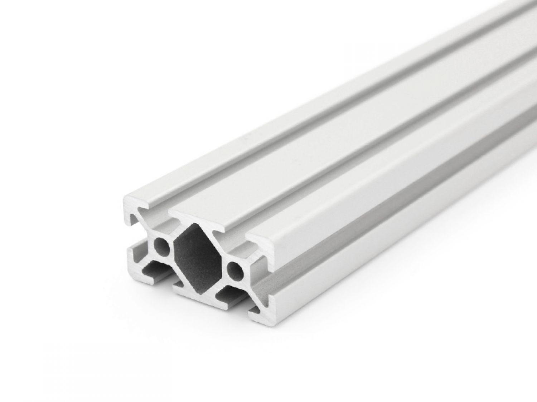 25,00/EUR//m + 0,50/EUR Pro et Profil/é en aluminium 40/x 80/l Pour d/écoupe de type I Rainure 8 50/mm/ /2000/mm