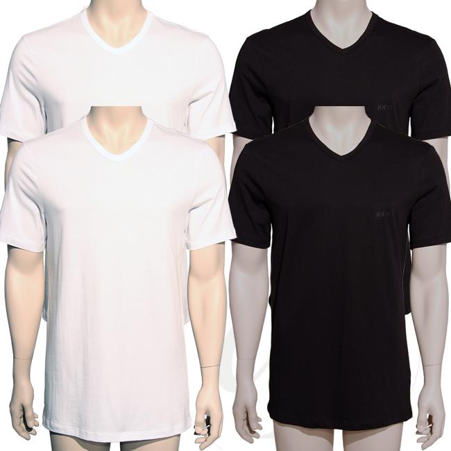 joop 2er pack v neck t shirts neu tee wei schwarz t shirt. Black Bedroom Furniture Sets. Home Design Ideas
