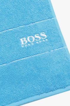 hugo boss strandtuch saunatuch badetuch handtuch 70 x140 in gr n blau grau ebay. Black Bedroom Furniture Sets. Home Design Ideas