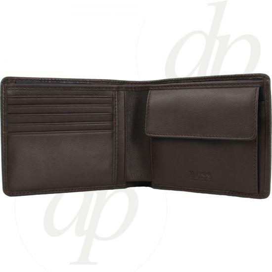 hugo boss herren brieftasche moneme braun schwarz. Black Bedroom Furniture Sets. Home Design Ideas