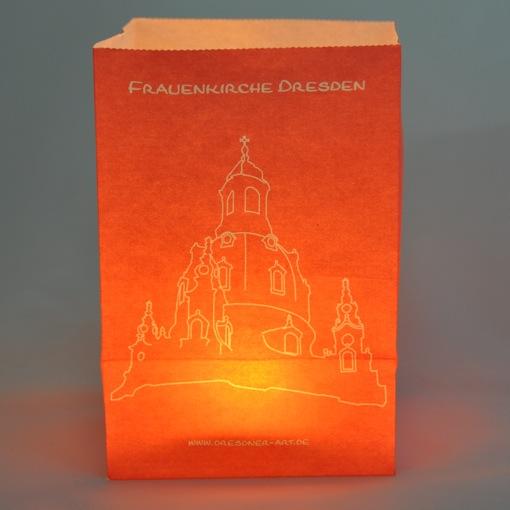 Lichttüte Mit Postkarte Frauenkirche Dresden, Geschenk