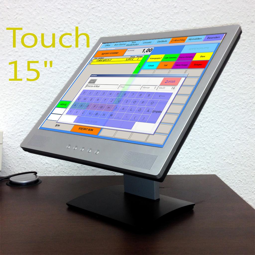 touchscreen kasse f r fachhandel kassensystem scannerkasse. Black Bedroom Furniture Sets. Home Design Ideas