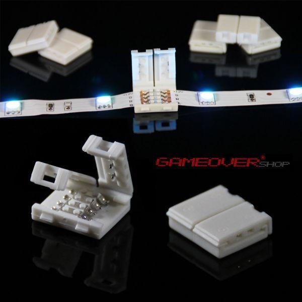 10x led smd rgb schnell verbinder adapter 4 pin stecker kabel strip licht leiste ebay. Black Bedroom Furniture Sets. Home Design Ideas