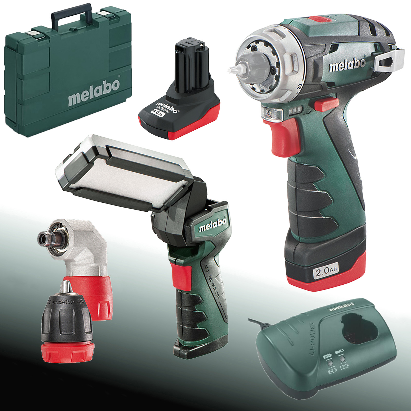 metabo akku montageset powermaxx bs quick led stablampe ebay. Black Bedroom Furniture Sets. Home Design Ideas