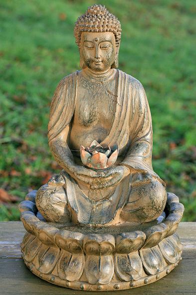 Zimmerbrunnen buddha gartenbrunnen mit led beleuchtung h he 50 cm ebay - Gartenbrunnen buddha ...