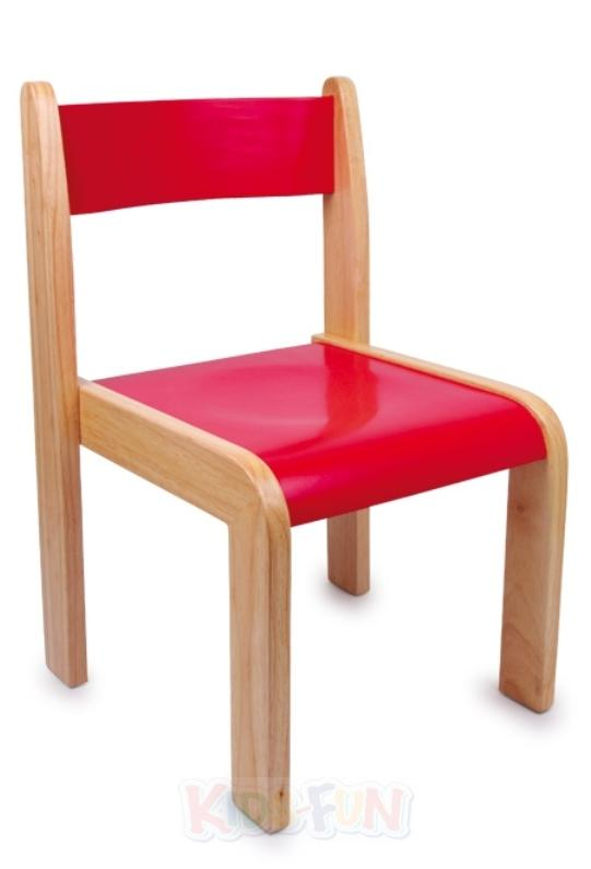 Kinder holz stuhl bunt rot gelb gr n blau holzstuhl for Holzstuhl bunt