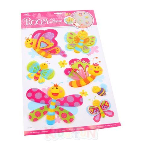 Deko sticker schmetterlinge wandtattoo kinder - Schmetterling kinderzimmer ...