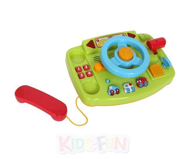 busy driver baby lenkrad auto mit ger uschen motorik telefon kleinkind spielzeug. Black Bedroom Furniture Sets. Home Design Ideas