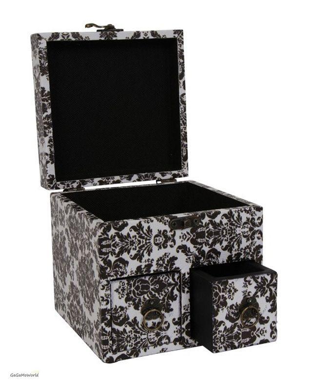 deko aufbewahrungsbox schmuckk stchen schmuckschatulle. Black Bedroom Furniture Sets. Home Design Ideas