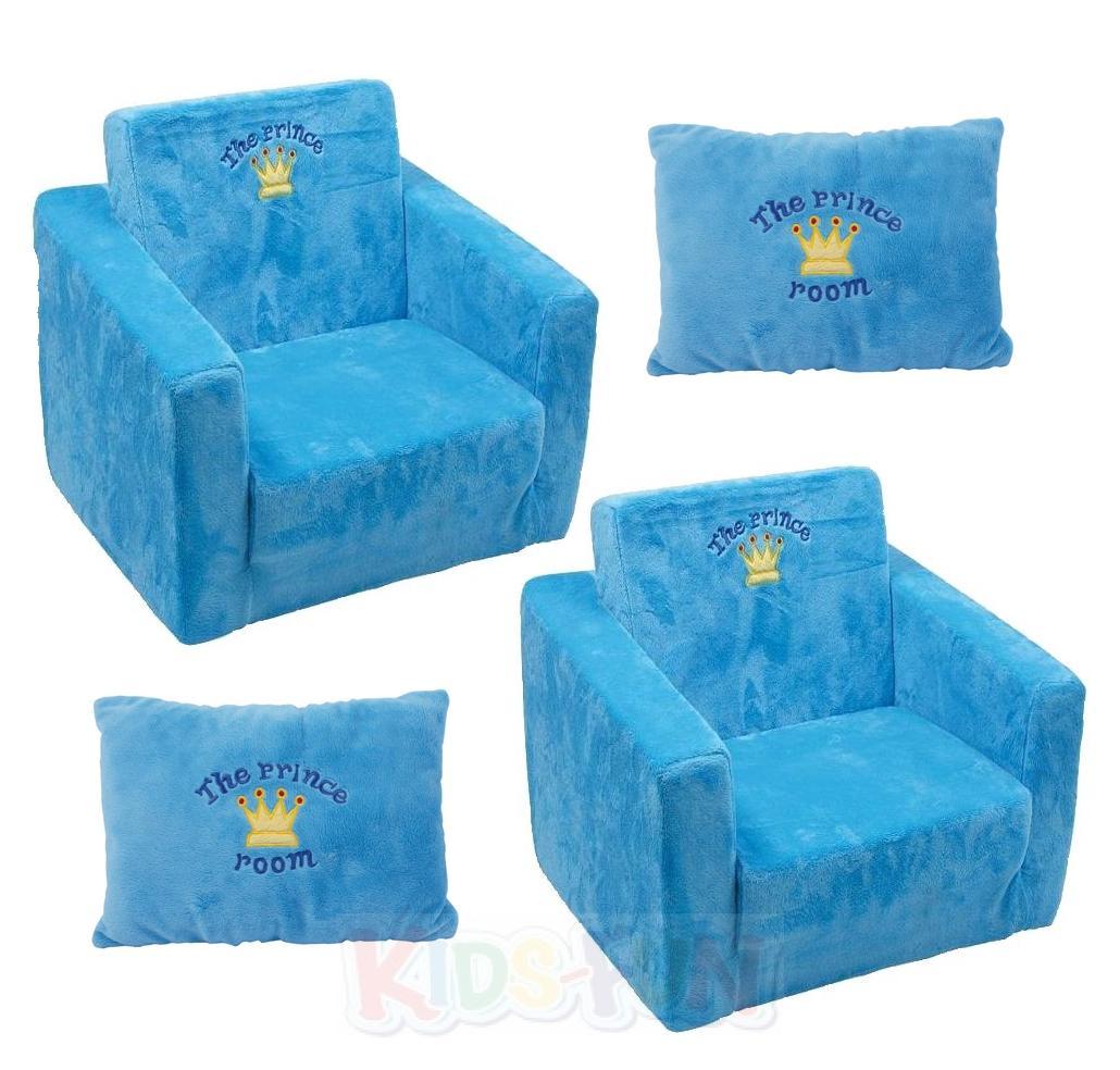 Kindersessel blau  Kinder Sessel Plüschsessel Aufblasbar Teddy Blau Rosa Prinz ...