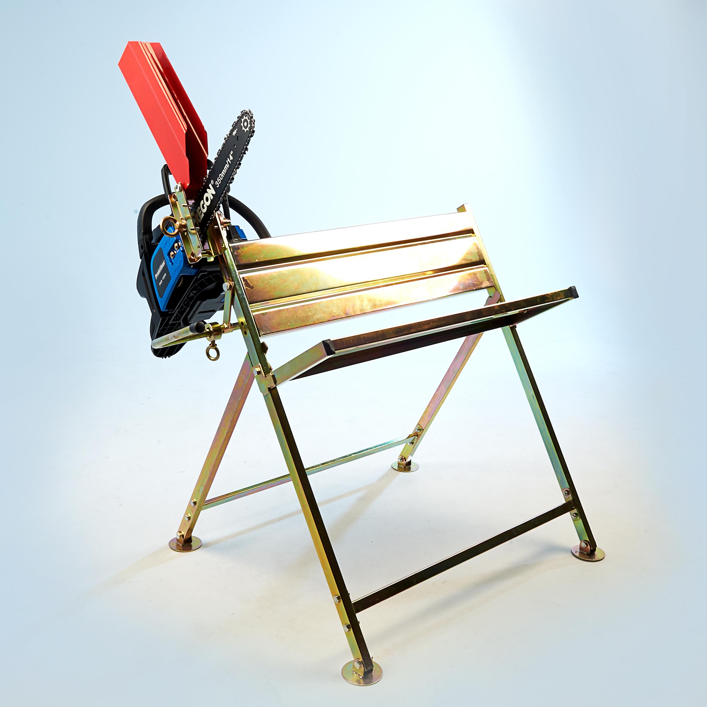 s gebock mit halterung f r kettens ge holzspalter brennholz bock holzs gebock ebay. Black Bedroom Furniture Sets. Home Design Ideas