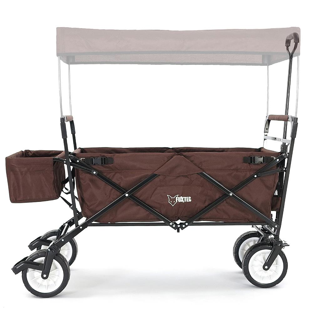 fuxtec faltbarer bollerwagen mit dach braun jw76c gebraucht strandwagen ebay. Black Bedroom Furniture Sets. Home Design Ideas