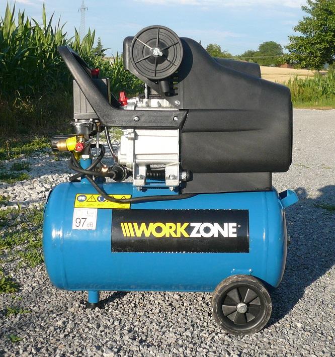 workzone druckluft kompressor kolbenkompressor 24 liter. Black Bedroom Furniture Sets. Home Design Ideas