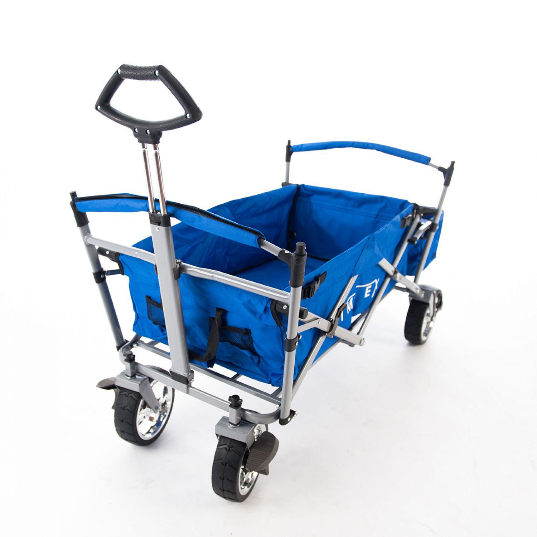 imlex bollerwagen blau faltbar strandwagen freizeit hand wagen im6650 ebay. Black Bedroom Furniture Sets. Home Design Ideas
