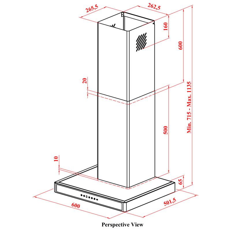 designer dunstabzugshaube extra leise edelstahl 60 cm wei. Black Bedroom Furniture Sets. Home Design Ideas