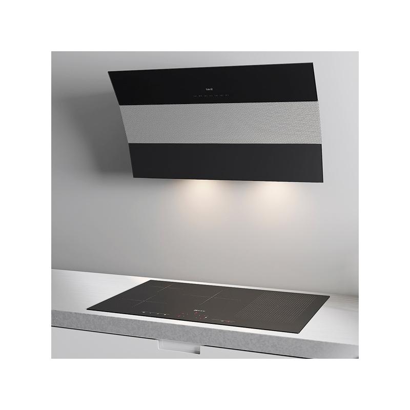dunstabzugshaube best kopffreihaube edelstahl schwarz glas 80 cm umluft m glich ebay. Black Bedroom Furniture Sets. Home Design Ideas