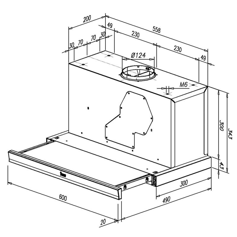 dunstabzugshaube teka flachschirmhaube einbauhaube edelstahl 60 cm umluft ebay. Black Bedroom Furniture Sets. Home Design Ideas