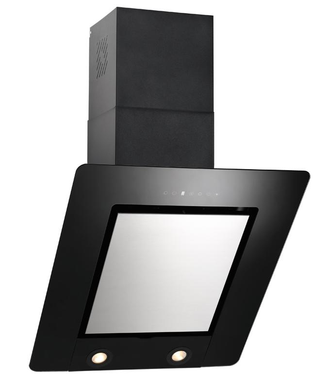 dunstabzugshaube kopffrei cypris 60 cm edelstahl schwarz glas 800 cbm h ebay. Black Bedroom Furniture Sets. Home Design Ideas