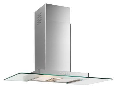 dunstabzugshaube wandhaube 80 cm gerades klar glas 800 m3 h abluft umluft ebay. Black Bedroom Furniture Sets. Home Design Ideas
